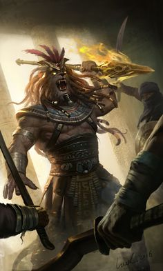 Clash Of Gods by Spellgun .Project works in CAH. Anime Fantasy, Dark Fantasy Art, Dnd Characters, Fantasy Characters, Character Inspiration, Character Art, Pixiv Fantasia, Fantasy Races, Anthro Furry
