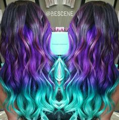 Gorgeous colorful ombre hair