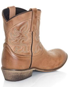 SO® Cutout Cowboy Ankle Boots - Women ($35) ❤ liked on Polyvore ...