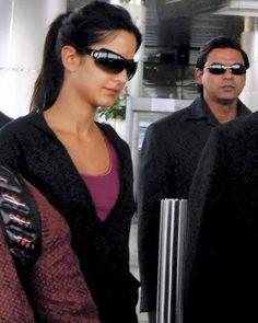Katrina Kaif at Rajiv Gandhi international airport in Hyderabad