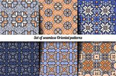Seamless Oriental patterns by nastyaaroma on @creativemarket