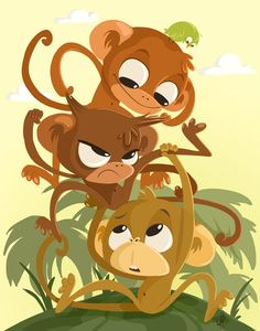 cute monkeys from Penguin Stands Alone
