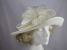 Upbrim Occasion Hat in Ivory. Occasion HatsDiy HatWedding ... afa5be9584c7