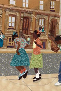 jump roping in the summer!!! Phyllis Stephens is an award-winning fifth generation quilt maker, considered by critics to be a Master of African-American Story Quilts.  Simply stated her quilts are inspirational.  She has quilted professionally for more than thirty years.