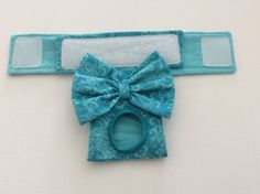 Female Dog Panties / Diaper Teal Floral Available by CodysHaven