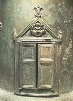 House of the Four Styles, food warmer detail, Pompeii