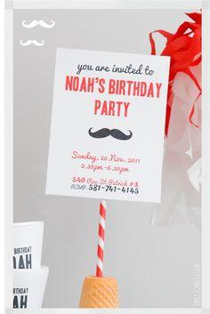 Moustache party invitation