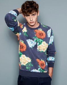 Men's fashion. Rose Sweater   Male Models in amazing Men's Wear.