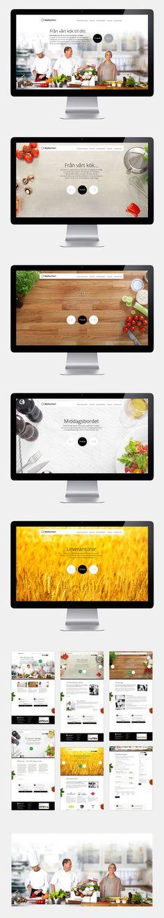 Matkomfort website by Erik Iggmark, via Behance