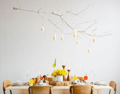 24 Creative Ways To Decorate With Branches --And my friends have been making fun of me for hanging onto The Stick and my Gandalf Staff through all these moves and years. Well, eat this, pals!