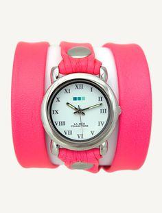 'La Mer' Neon Pink Silver Circle Triple Wrap ☻                                                                                                                                                                  ⇜•ṄεΦЙ❉€яᗛƶΣ•⇝