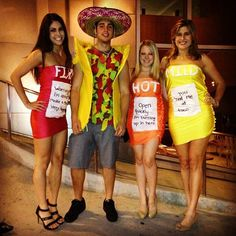 What do people think of Taco Bell? See opinions and rankings about Taco Bell across various lists and topics. Taco Halloween Costume, Taco Costume, Cute Couple Halloween Costumes, Cheap Halloween, Cute Costumes, Family Costumes, Group Costumes, Costumes For Women, Halloween Party