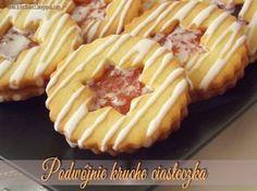 Podwójnie kruche ciasteczka Polish Recipes, Polish Food, Chocolate Desserts, Christmas Baking, No Bake Desserts, Coffee Cake, Baking Recipes, Bakery, Cheesecake