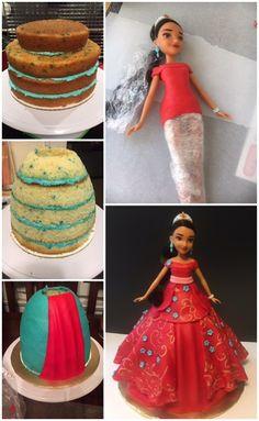 Princess Elena doll cake photo tutorial.