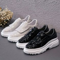 Chiko Juliana Flatform Dad Sneakers feature found toe, lace up front, comfortable sneaker sole.