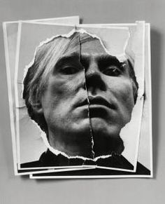 """Arnold Newman - Portrait of Andy Warhol. """"Photography, as we all know, is not real at all. It is an illusion of reality with which we create our own private world,"""" Arnold Newman."""