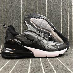 a70b154ae4f8 Top Quality Nike Air Max 270 Retro Grey Black-White Men s Skateboarding  shoes Casual AH8050-003