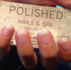 I love the sparkles...such a great addition to the classic French nail!!