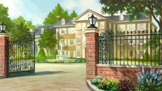 Mansion by andanguyen.devian… on Mansion by andanguyen. Game Background Art, Scenery Background, Living Room Background, Animation Background, Anime Backgrounds Wallpapers, Anime Scenery Wallpaper, Episode Interactive Backgrounds, Episode Backgrounds, Casa Anime