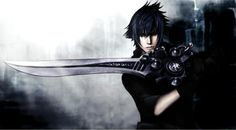 Noctis with his sword.