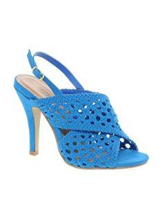 New Look EC Slice Woven Slingback Sandals $28.85 at Asos.com #shoes #pumps