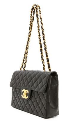 ab3735b4422c46 WGACA Vintage Vintage Chanel 2.55 Jumbo Bag Chanel Purse, Quilted Leather,  Leather Interior,