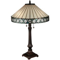 Shop for Meyda Tiffany 134537 Diamondring 2 Light Desk Lamp - Mahogany Bronze. Get free delivery On EVERYTHING* Overstock - Your Online Lamps & Lamp Shades Store! Light Table, Lamp Light, Stained Glass Table Lamps, Tiffany Table Lamps, Arc Floor Lamps, Contemporary Floor Lamps, Beveled Glass, Diamond Rings, Glass Art