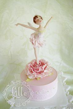 Peony Dancer! a gum paste ballerina cake topper