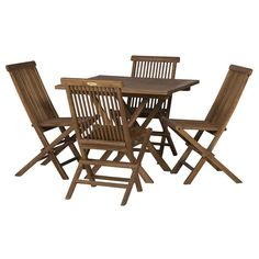 5PC INDO TEAK SET Teak Oil, Online Furniture Stores, Folding Chair, Quality Furniture, Table, Tables, Desk, Tabletop, Desks
