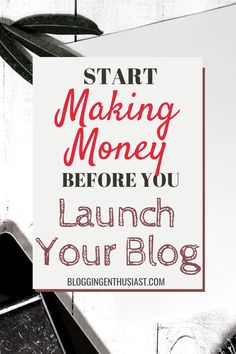 How to Monetize Your Blog Before You Launch ⋆ Blogging Enthusiast Online Cash, Online Earning, Earn Money Online, Online Jobs, Marketing Tactics, Email Marketing Strategy, Make More Money, Make Money Blogging, Messages