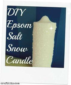 Epsom Salt Snow Candle