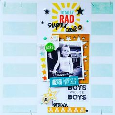 Imaginarium Designs DT layout : Totally RAD super cool by Amanda Baldwin featuring Cocoa Vanilla Studio : Totally RAD collection