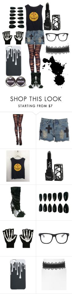 """""""Outcasts 5"""" by imortalsnail ❤ liked on Polyvore featuring The Lip Bar, HADES, Hot Topic, STELLA McCARTNEY and Aqua"""