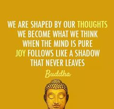 Joy follows a pure mind