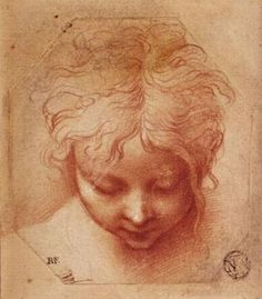wasbella102:    Study of a Head,  Parmigianino. Italian Mannerist Painter, (1503-1540)  poboh:  Beautiful Poboh :)