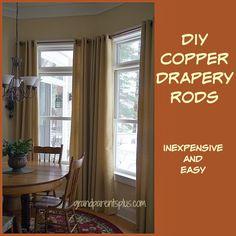 DIY Copper Drapery Rods grandparentsplus.com