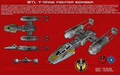 BTL Y-Wing Fighter Bomber ortho [New] by unusualsuspex on DeviantArt
