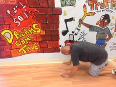 AML Foundation Art Studio in-progress.  Providing abused kids a voice and expression through art. www.amlfoundation.com