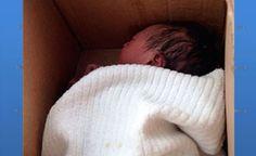 Bebê é achado por catador de lixo em caixa de papelão