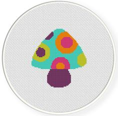 FREE for July 15th 2016 Only - Hippie Mushroom Cross Stitch Pattern