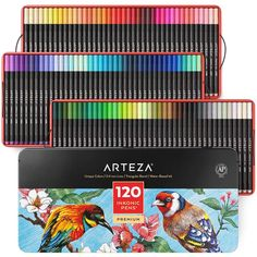 Shop a wide selection of ARTEZA Art Pens & Markers for artists of all levels. Find watercolor brush pens, blendable art markers, water-based sketch markers, fineliner pens, and gel pens. Marker Kunst, Marker Pen, Art Du Croquis, Water Brush Pen, Fine Point Pens, Fine Pens, Fineliner Pens, Pen Sets, Gel Pens