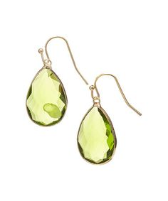 This Peridot Quartz & Sterling Silver Serena Drop Earrings is perfect! #zulilyfinds