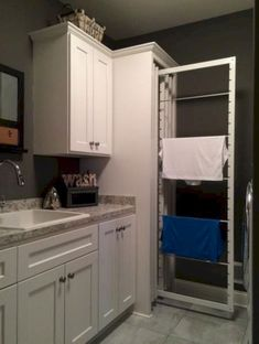 Awesome Minimalist Laundry Room Ideas For Small Space - Awesome Minimalist L. Awesome Minimalist Laundry Room Ideas For Small Space – DEXORATE, Small Laundry Rooms, Laundry Room Design, Ikea Laundry, Laundry Shelves, Laundry Storage, Small Storage, Diy Storage, Storage Ideas, Small Shelves