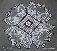 hope you like this padi kolam done by me long back. Indian Rangoli Designs, Rangoli Border Designs, Small Rangoli Design, Rangoli Ideas, Rangoli Designs With Dots, Arabic Mehndi Designs, Rangoli With Dots, Beautiful Rangoli Designs, Simple Rangoli