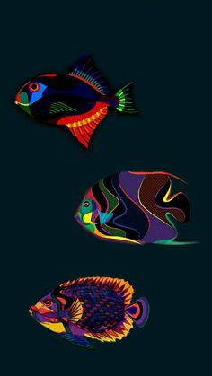 Aries Wallpaper, Cool Wallpaper, Beautiful Wallpaper, Cool Backgrounds, Wallpaper Backgrounds, Bright Paintings, Collage, Betta Fish, Design