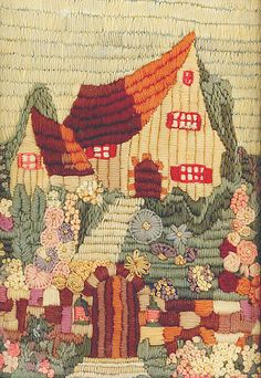Vintage Crewelwork Cottage by The T-Cozy, via Flickr