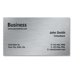 Silver Professional Elegant Metal Modern Plain Double-Sided Standard Business Cards (Pack Of 100). This is a fully customizable business card and available on several paper types for your needs. You can upload your own image or use the image as is. Just click this template to get started!