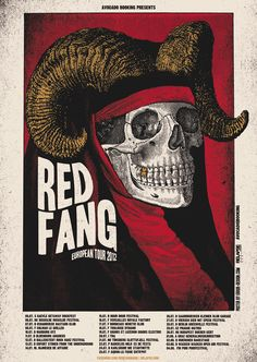 Red Fang European Tour 2012, by Xavi Forné of Error Design. Yep. I'll take five copies. Thanks!