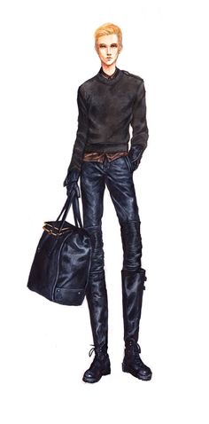 Practicing leather and menswear  05/29/12
