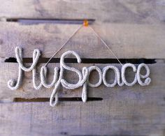 My Space Rustic Sign Wall Hanging Natural Hemp by vanessahandmade